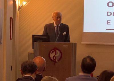 Paolo Pasini all'introduzione dei lavori