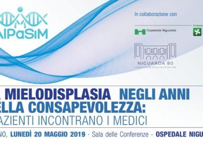 """""""La Mielodisplasia negli anni della consapevolezza"""", 20 maggio 2019 ore 15:00-17:00 ➡➡ vedi dettagli"""