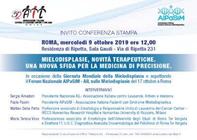 Conferenza Stampa,  Roma 9 ott. 2019