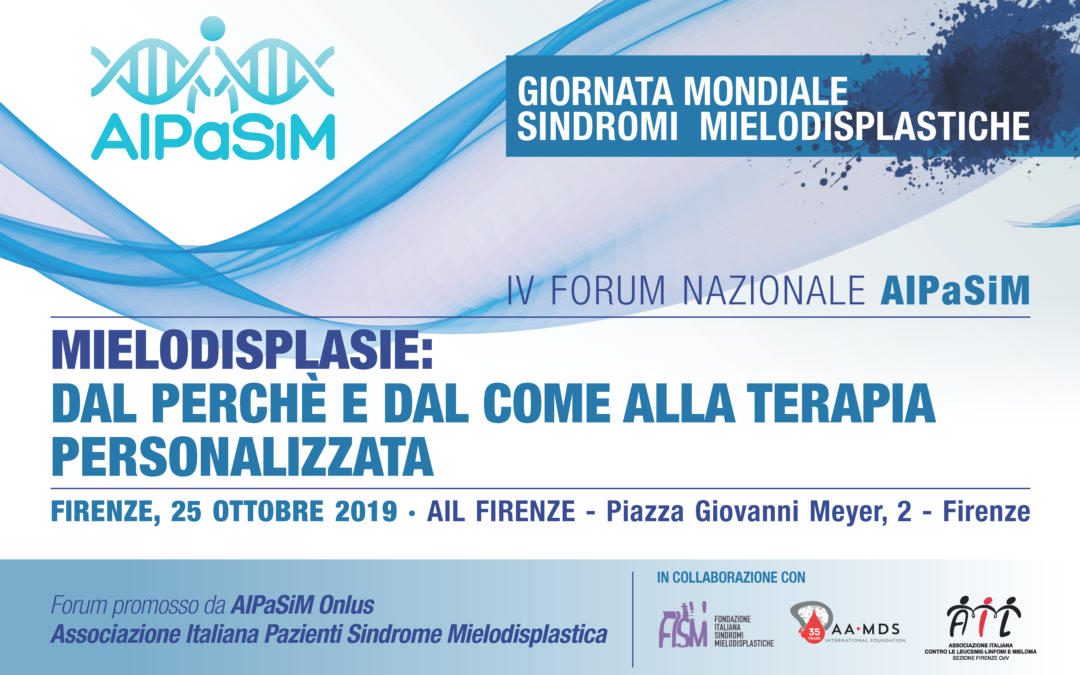 IV Forum AIPaSiM, Firenze 25 ottobre 2019