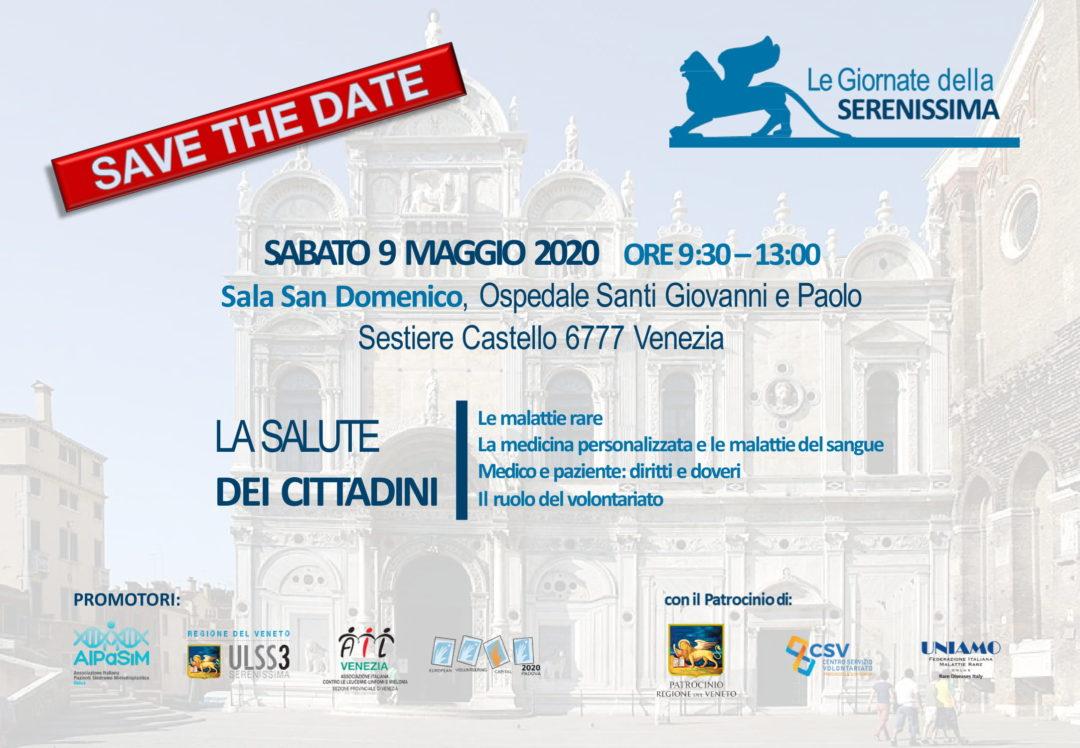 """Incontro """"LA SALUTE DEI CITTADINI"""" Venezia 2020"""