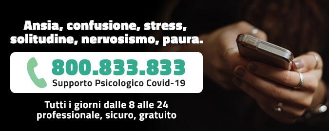 Covid-19 – Numero verde di supporto psicologico