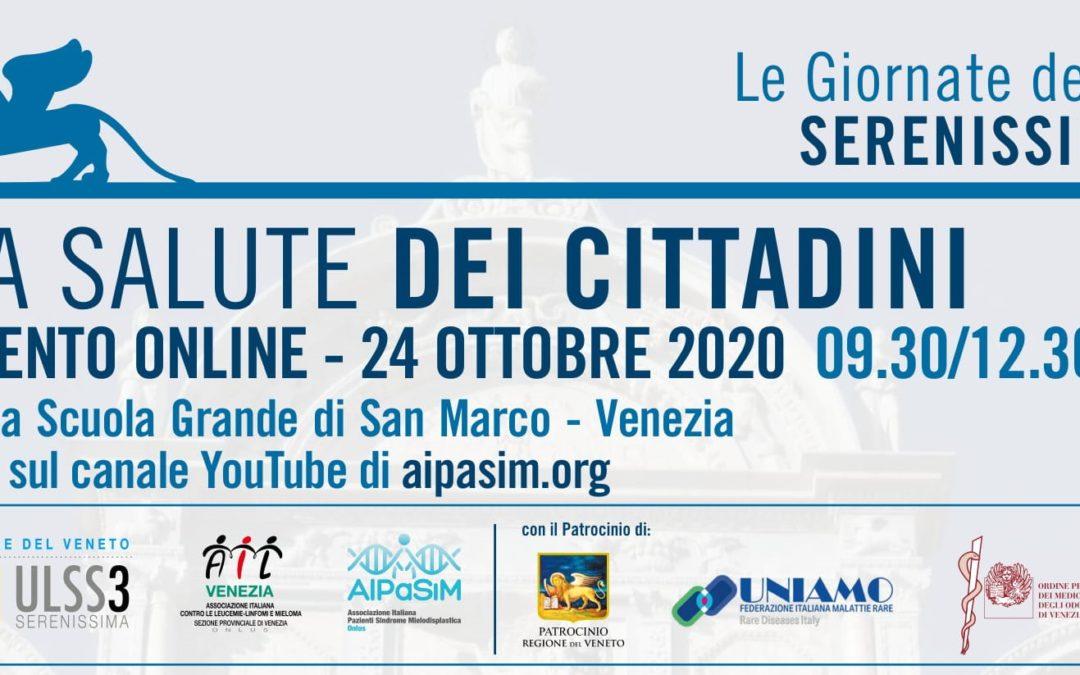 La Salute dei Cittadini, Venezia 24 ottobre 2020 – La Cronaca
