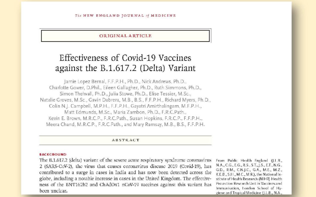 Efficacia dei vaccini Covid 19 contro la variante Delta