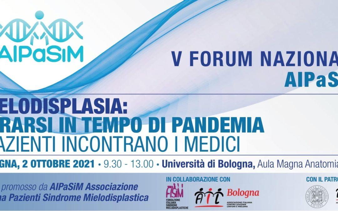 V FORUM NAZIONALE AIPaSiM, Bologna 2 ottobre 2021